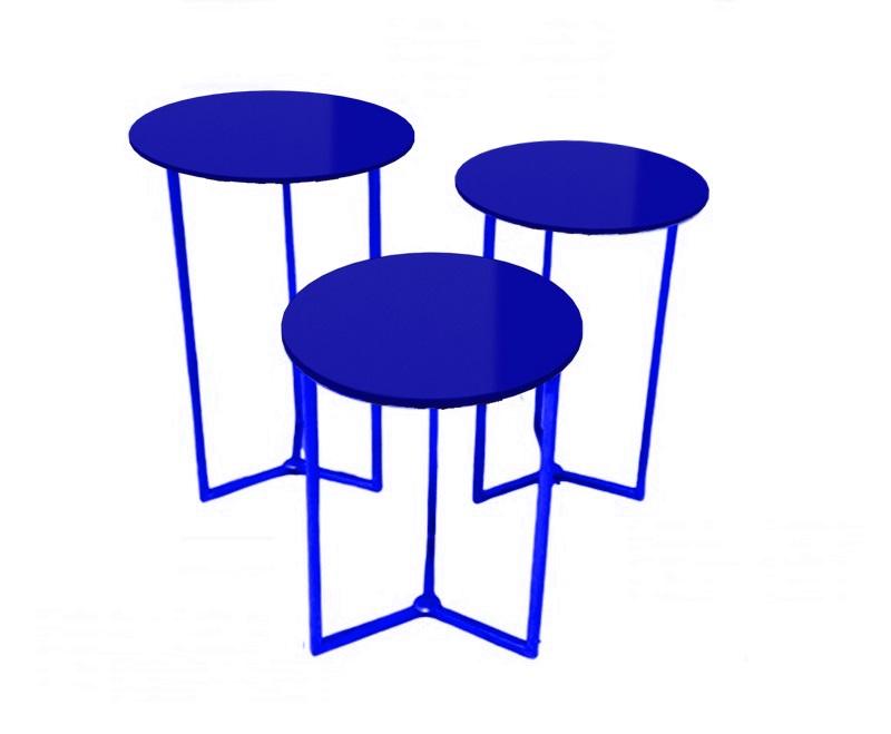 Trio de mesas encaixaveis Para Festa Várias Cores